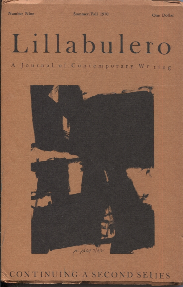 Lillabulero Number 9 Summer/Fall 1970; A Journal of Contemporary Writing. Russell Banks, William Matthews.