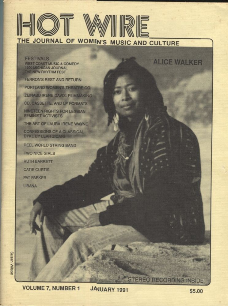 Hot Wire January 1991 ; The Journal of Women's Music and Culture. Toni Armstrong.