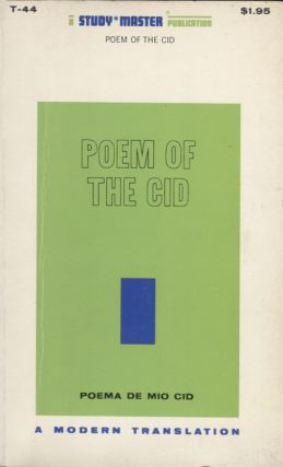 Poem of the Cid. Paul Blackburn