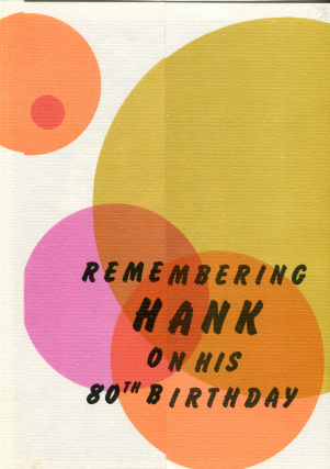 Remembering Hank on his 80th Birthday. Charles Bukowski