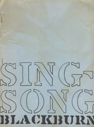 Sing-Song. Paul Blackburn