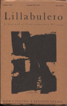 Lillabulero Number 9 Summer/Fall 1970; A Journal of Contemporary Writing. Russell Banks, William...