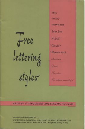 FREE LETTERING STYLES; Made by Typefoundry, Amsterdam